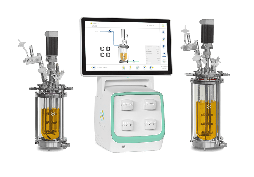 Jupiter benchtop lab scale fermentors & bioreactors | Parallel bioreactor management